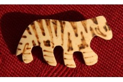 """Bouton """" tigre"""" en bois"""