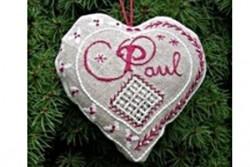"""Kit de broderie jour de Lin """"Accroche coeur Paul"""""""