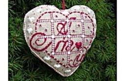 """Kit de broderie jour de Lin """"Accroche coeur Amour"""""""