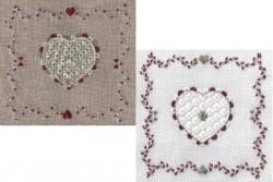 """Kit de broderie Jour de lin """"Coeur de Schwalm N°2"""""""