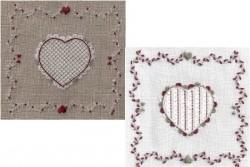 """Kit de broderie Jour de lin """"Coeur de Schwalm N°3"""""""