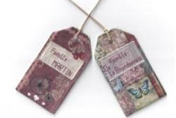 """Kit de broderie Jour de lin """"Etiquettes de voyage rouge"""""""
