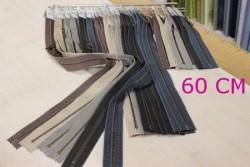 Zip fermeture à glissière Vintage 60 cm  DC pour sac Hand Made