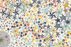 Tissu Liberty Adelajda étoiles multico