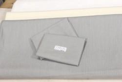 "Toile 100% lin pour broderie traditionnelle ""Monaco"" gris perle"