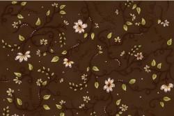 "Tissu ""La vie est belle"" joli coeur chocolat"