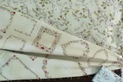 """Tissu patch """"La vie est belle"""" étiquettes"""