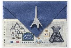 """Kit brodés-cousus """"petit bazar Paris"""""""