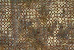 "tissu patch Bali Handpaints Floral batik ""Tan"""