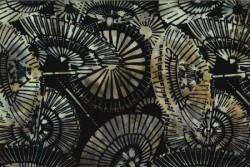 """tissu patch Bali Handpaints batik Parasols """"Sage"""""""