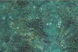 tissu patch Bali Handpaints batik Chrysanthèmes turquoise