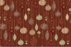 """Tissu Patch collection """"Glimmering"""" boules de Noël fond cuivre"""