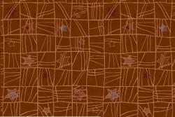 """Tissu Patch collection """"Glimmering"""" quadrillage et étoiles sur fond cuivre"""