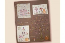 """Kit de broderie traditionnelle """"Quand l'automne s'en mêle"""" complet"""