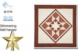 Patron gratuit de patchwork Tissus stof Glimmering Wall hanger