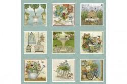 """Tissu """" Antique Garden Labels """""""