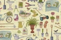"""Tissu """" Antique Garden Scatter """""""