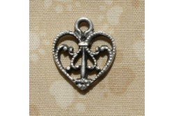 "Charms "" Coeur en filligrane, """