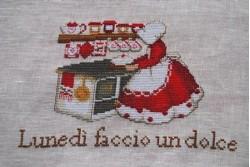 """Fiche de broderie au point de croix de Serenita di Campagna """"Lunedi"""""""