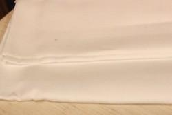 Toile de lin BERGEN de Zweigart, 18 fils/cm, coloris 100  blanc