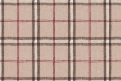 "Tissu patch Shabby Chic ""Rayure Tissée style Burberry"""