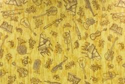 Tissu patch Instrument Music Toile fond dorée