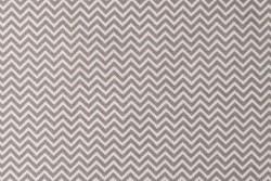 Tissu Rico petit zig zag gris sur fond blanc