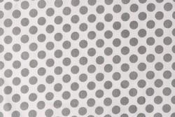 Tissu Rico gros point gris sur fond blanc