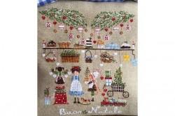 """Diagramme point de croix de Lilli Violette """"La Vigilia di Natale"""""""