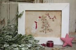 "Diagramme point de croix de Mme Chantilly ""The bear and the tree"""