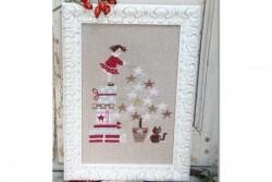 """Diagramme point de croix de Mme Chantilly """"Star de Noël"""""""