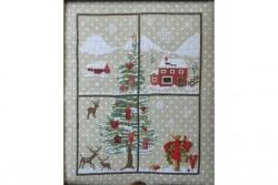 """Diagramme point de croix de Sara Guermani """"Christmas Window 4 """""""