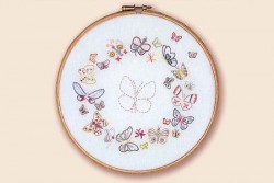 Kit de broderie traditionnelle, collection Zen , N°8-Papillons