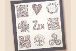 Kit de broderie traditionnelle, collection Zen , Panneau Complet