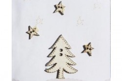 "Boutons ""Sapin et Etoiles"""
