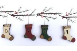 """Boutons  """" Bottes de Noël"""""""