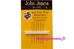 Aiguilles John James pour perles, à bout rond