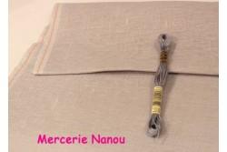 Toile de lin naturel Newcastle de Zweigart, coloris 705 gris perle