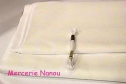 Etamine unifil Brittney de Zweigart, coloris 11 blanc lurex