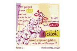 """Diagramme au point de croix Lilipoints """" Aïoli """""""