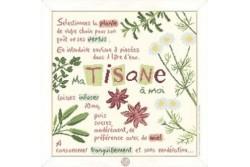 """Diagramme au point de croix Lilipoints """" ma tisane à moi """""""