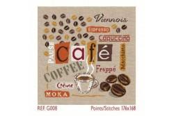 """Diagramme au point de croix Lilipoints """" Le café """""""