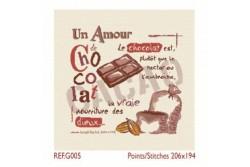 """Diagramme au point de croix Lilipoints """" Un amour de chocolat"""""""