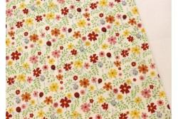 coccinelles et fleurs  Stof, les tissus patchwork P6039