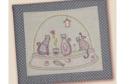 Kit de broderie traditionnelle, Boule chats