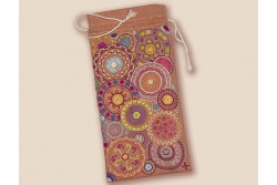 Kit de broderie traditionnelle Etui à lunettes Mandala orange