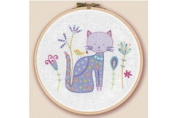 Kit de broderie traditionnelle Ying le chat
