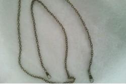 chaine de sac métal bronze 120 cm