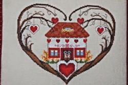 "Fiche de broderie au point de croix de Serenita di Campagna "" Un cuore..."