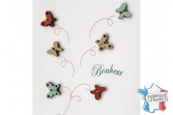 """Bouton en bois """"Papillons"""""""